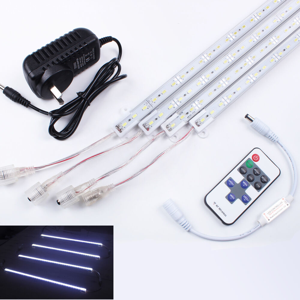 12V 4/8x Led Strip Lights Bar Waterproof Cool White 5630