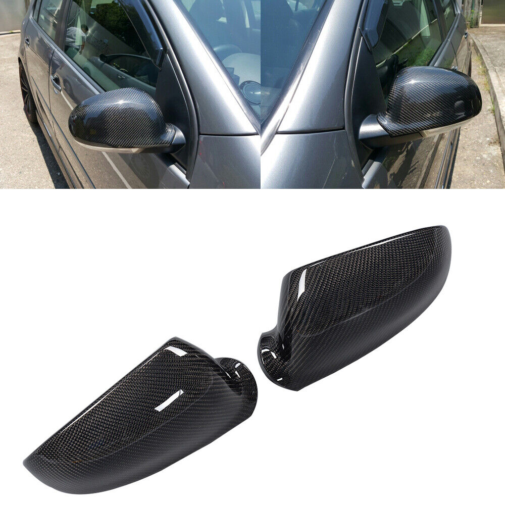 Replacement Carbon Side Mirror Covers Cap For Volkswagen