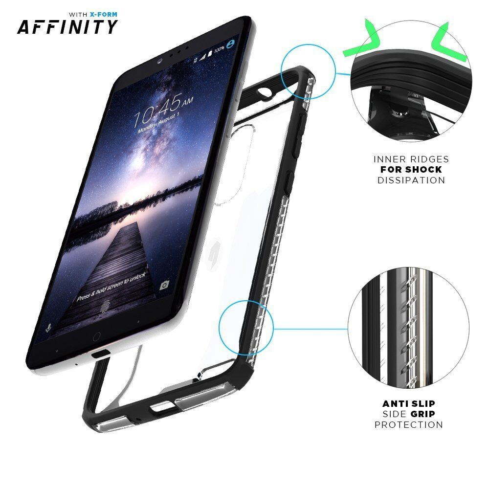 Poetic Affinity Thin Clear Shockproof Bumper Smart Case for ZTE ZMAX ...