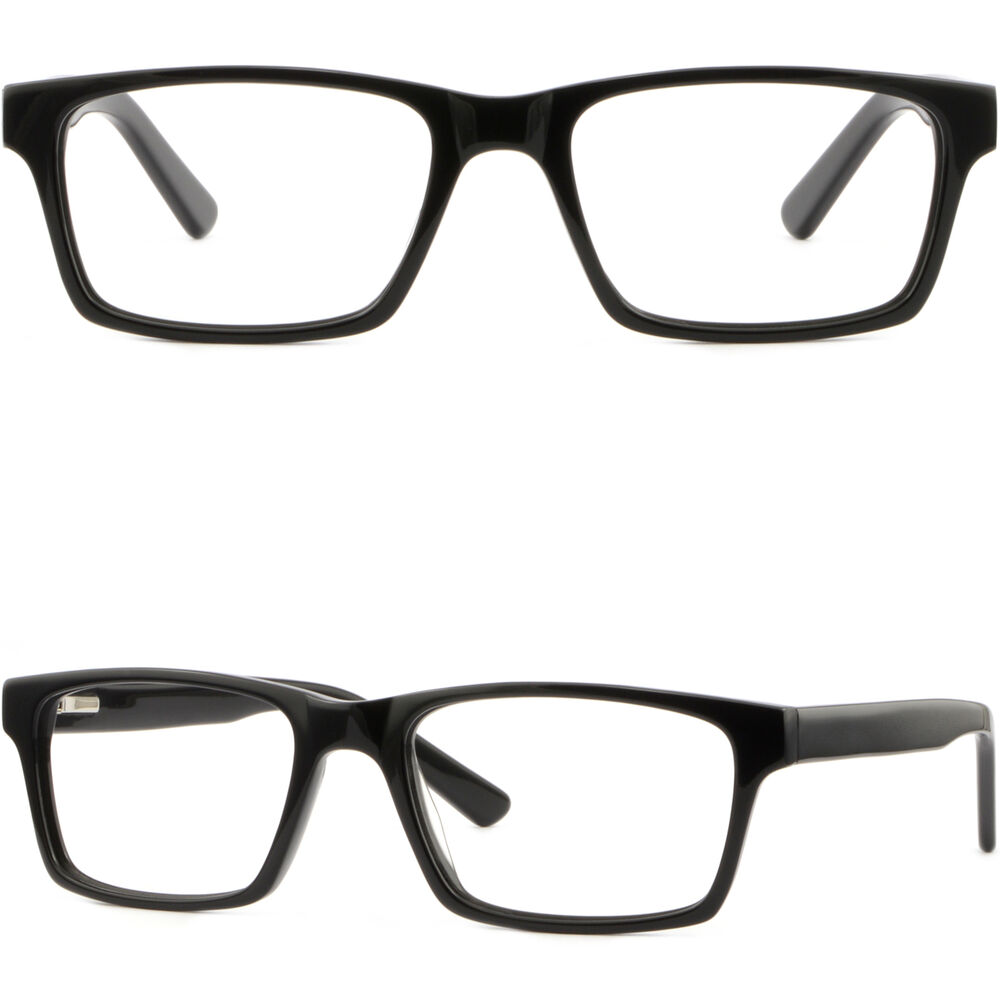 0749c2bc200 Details about Rectangle Mens Womens Plastic Frames Prescription Glasses  Rectangular Eyeglasses