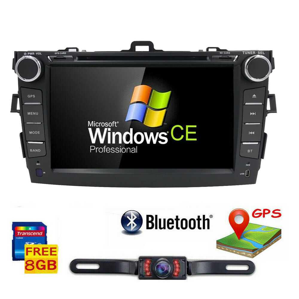 "8"" Touch Screen Stereo Radio Car CD DVD Player GPS"