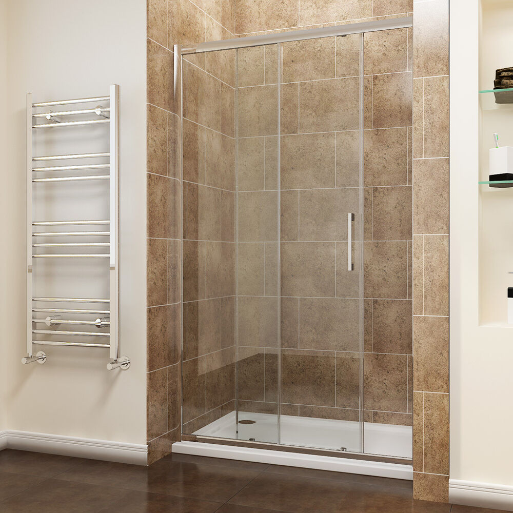 Sliding Shower Door Enclosure Walk In Shower Cubicle 8mm Easy Clean Glass Tall Ebay