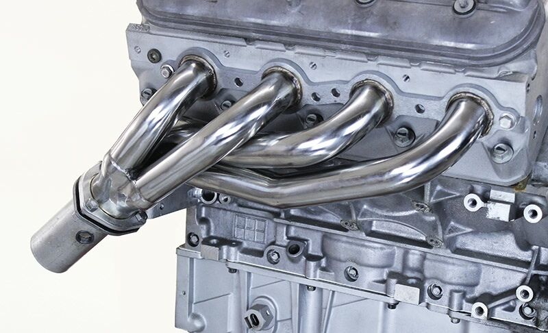 Stainless LS swap headers with collectors and O2 bungs ...