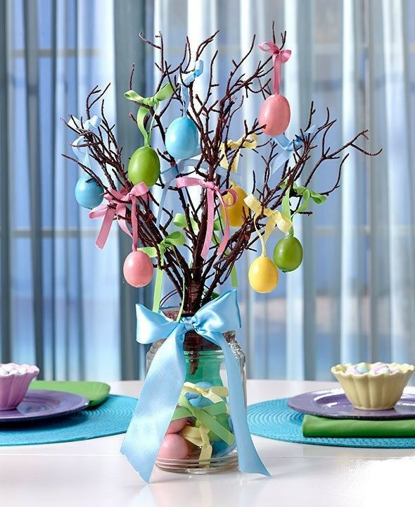 Lighted Mason Jar Easter Egg Tree Easter Egg Ornaments