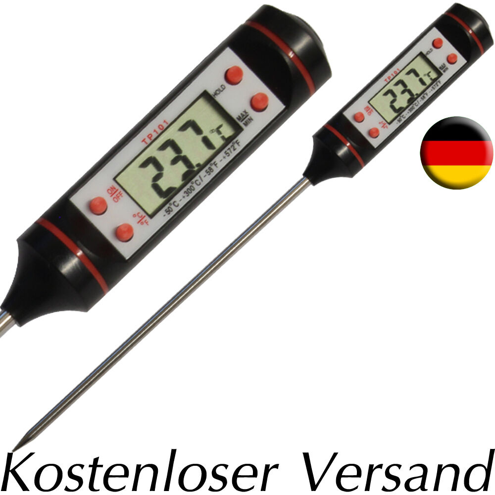 fleisch grill lebensmittel digital fisch thermometer bbq kerntemperatur mangal ebay. Black Bedroom Furniture Sets. Home Design Ideas