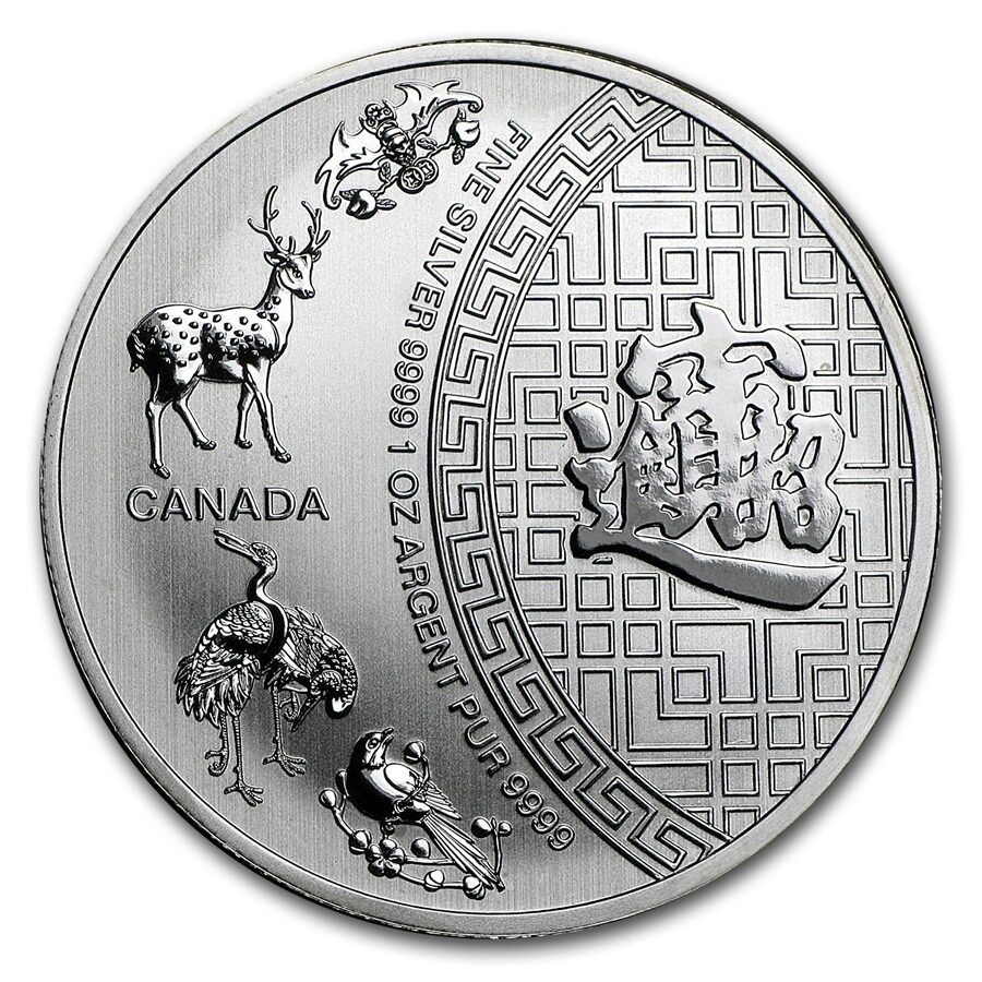 2016 1 Oz 5 Canada Pure 9999 Silver 5 Blessings