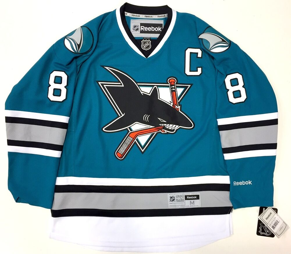 463e5887f8f Details about JOE PAVELSKI SAN JOSE SHARKS 25TH ANNIVERSARY REEBOK NHL  PREMIER JERSEY NEW