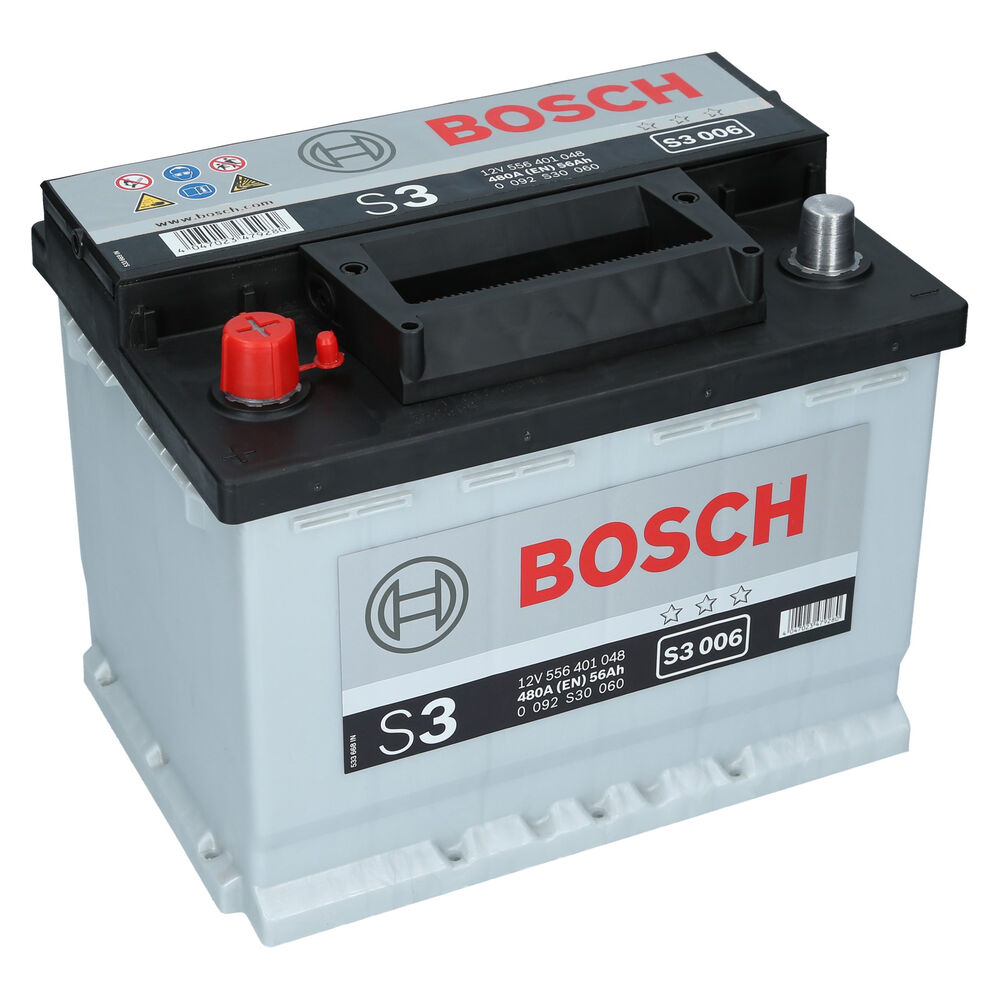bosch 12v 56ah 480a en s3 006 autobatterie starterbatterie. Black Bedroom Furniture Sets. Home Design Ideas
