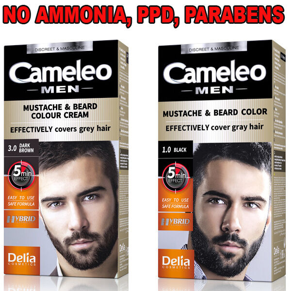 delia cameleo colour cream beard mustache grey hair cover dye cream 5min effect ebay. Black Bedroom Furniture Sets. Home Design Ideas