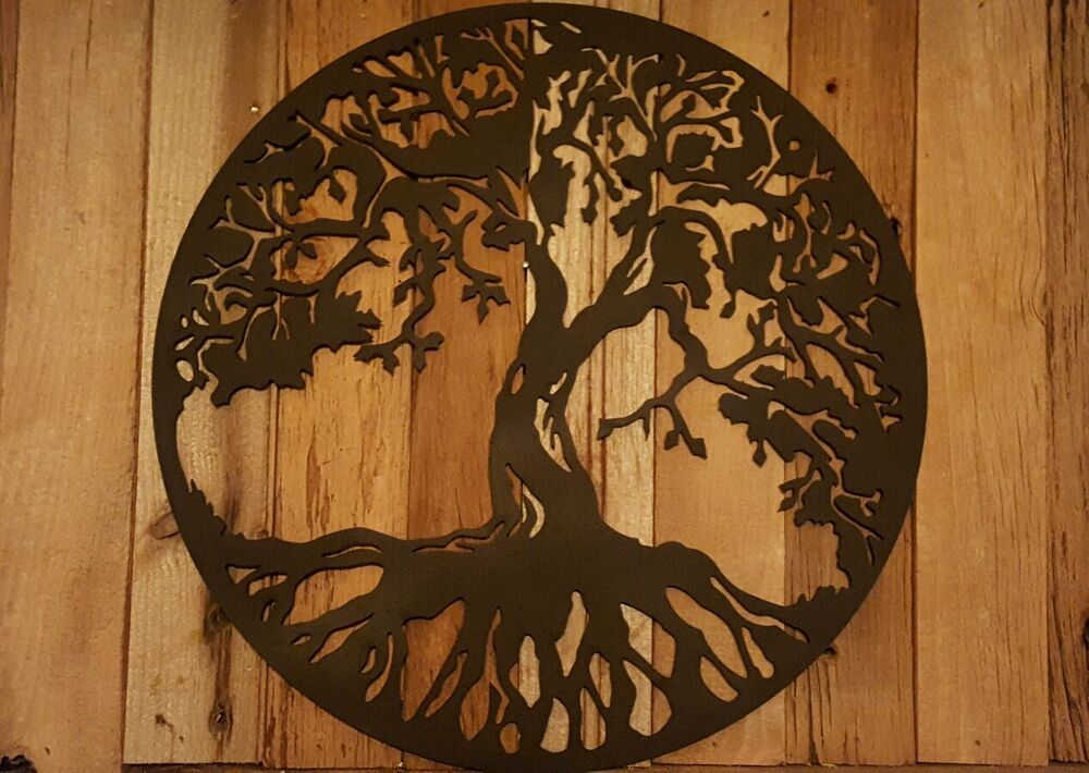Rustic Tree Wall Decor : Tree of life metal wall art hanging home decor rustic
