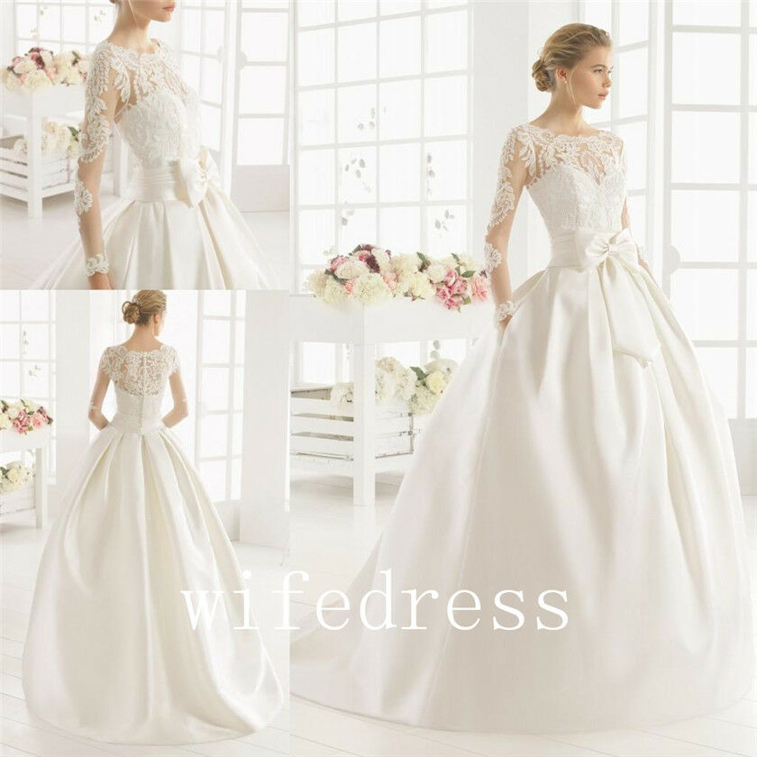 Wedding Gown With Pockets: New Wedding Dress Bridal Ball Gowns Pocket Applique Long