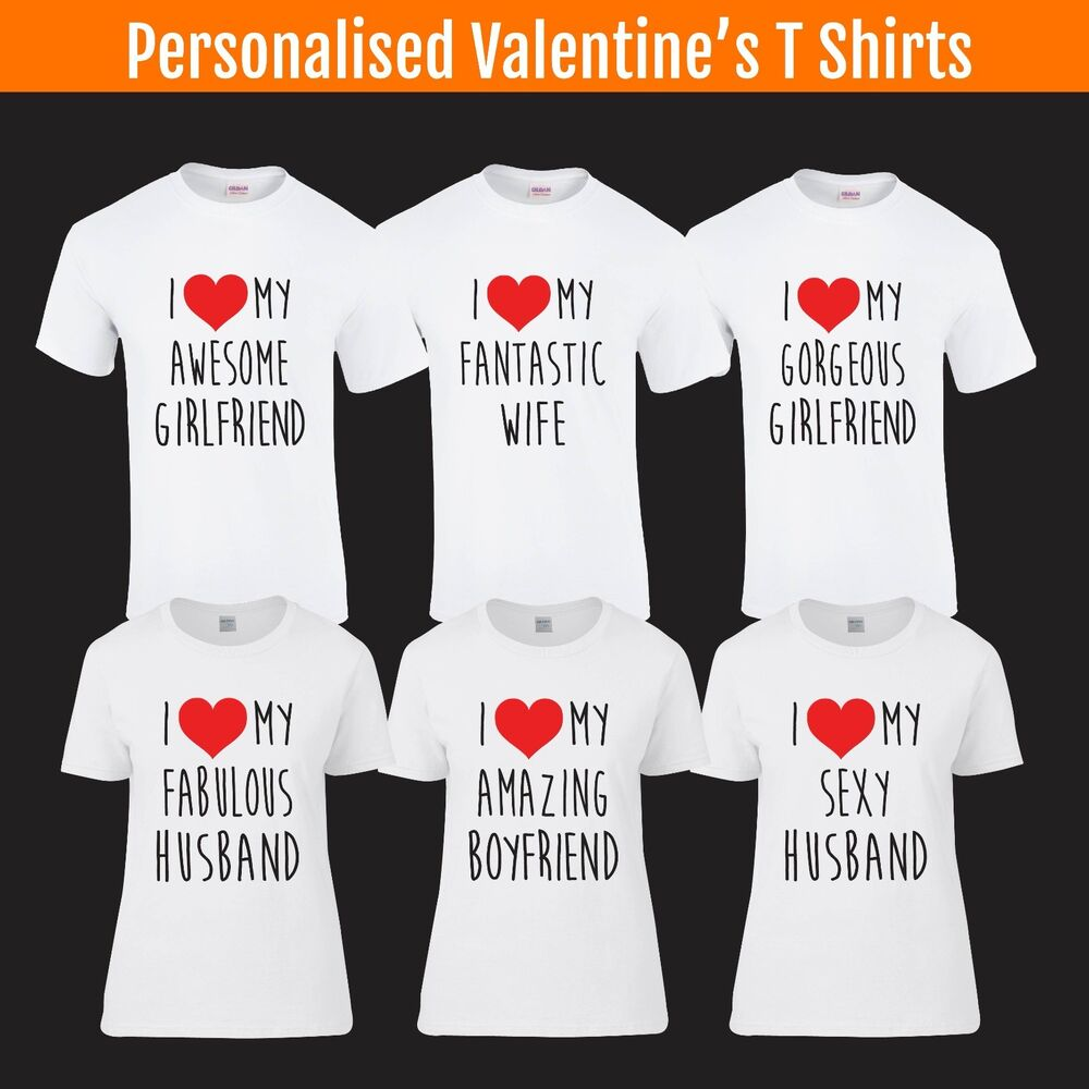 Details About I Love My T Shirt Valentines Day Boyfriend Girlfriend Husband Wife Birthday Gift