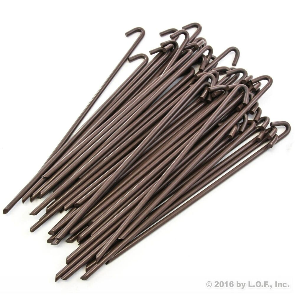 50 Piece Steel Tent Pegs Garden Stakes Premium Tree Tarp Balloon 10  Heavy Duty  sc 1 st  eBay : extra strong tent pegs - memphite.com