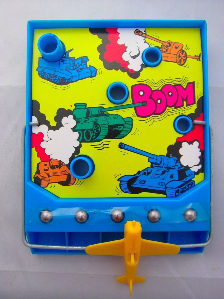 Fish Toy Game 70s : Vintage toy aircraft bomber bombing magnetic game army