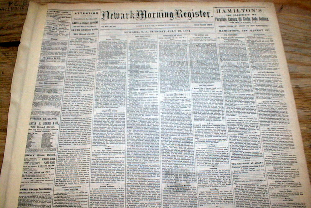 1881 newspaper JESSE JAMES OUTLAW GANG robs ROCK ISLAND ...