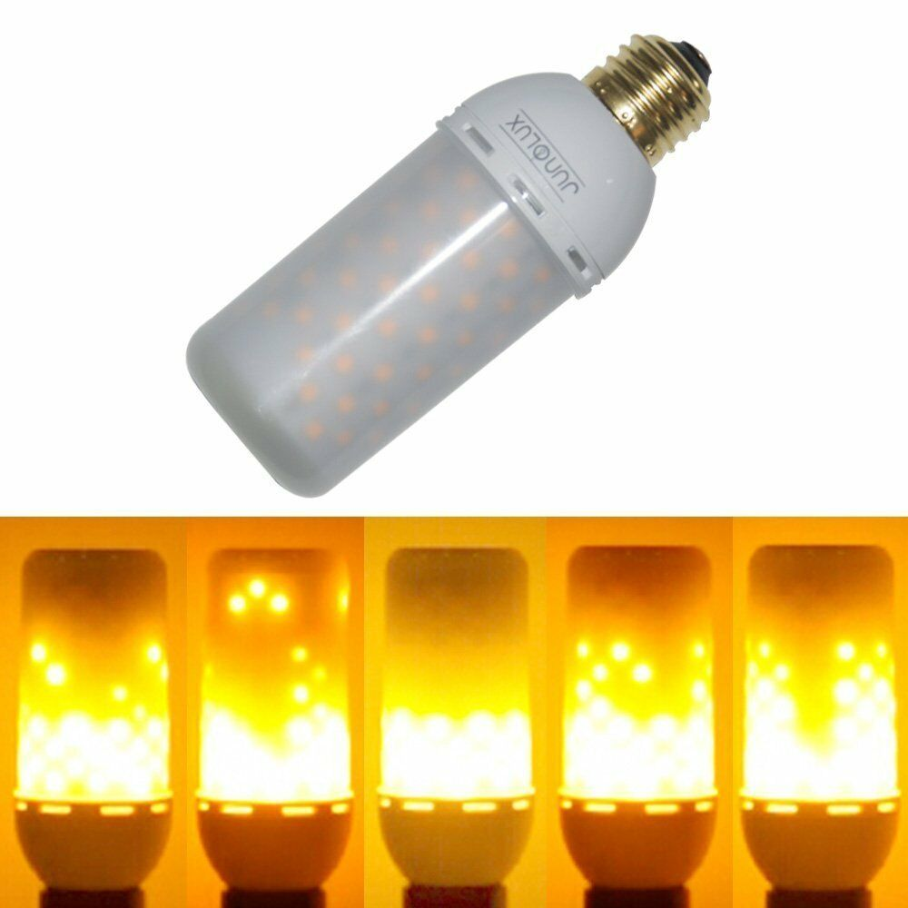 Lighting Bulb: JUNOLUX LED Burning Light Flicker Flame Light Bulb Fire