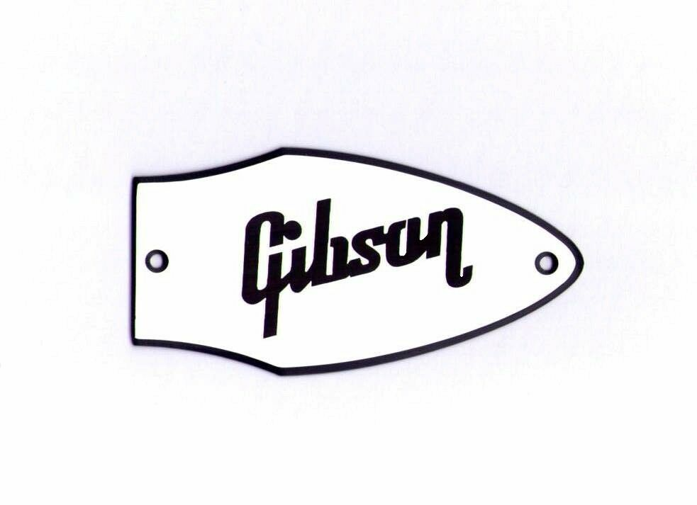 flying v bass truss rod cover name plate for gibson bass guitar  white    black