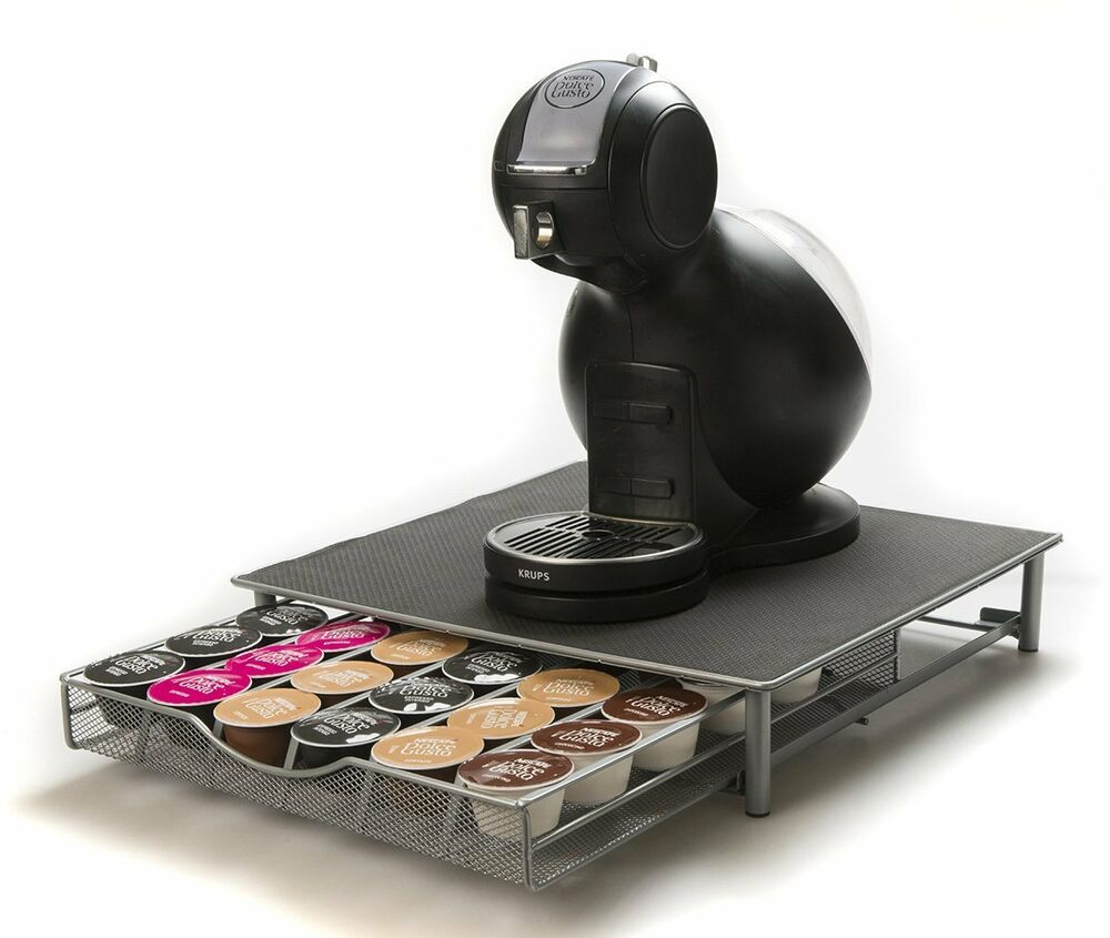 dolce gusto compatible coffee capsule holder for 36 pods drawer machine stand ebay. Black Bedroom Furniture Sets. Home Design Ideas