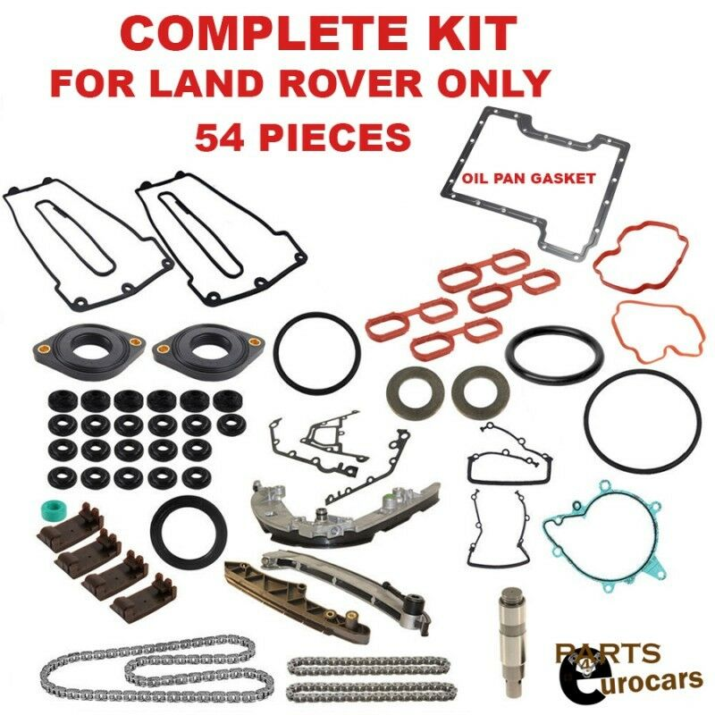 Land Rover Oem 03 05 Range Rover Engine Timing Chain: Timing Chain Kit Set Gaskets Chain Guides Rails Set 54pcs