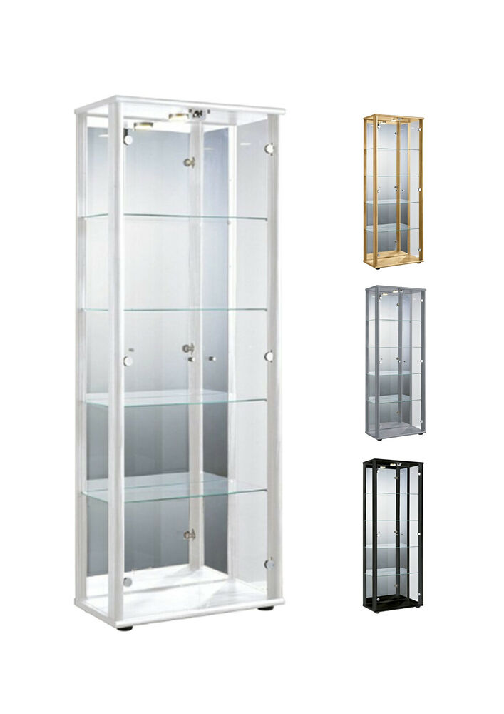 glasvitrine sammlervitrine vitrine led beleuchtet schloss. Black Bedroom Furniture Sets. Home Design Ideas