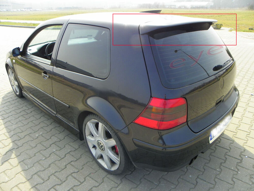 vw golf 4 mk4 iv r32 look rear roof spoiler ebay. Black Bedroom Furniture Sets. Home Design Ideas