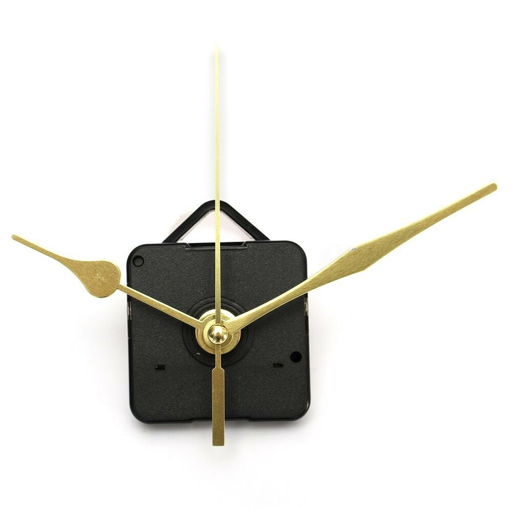 Long Shaft Gold Hands Diy Wall Quartz Clock Movement