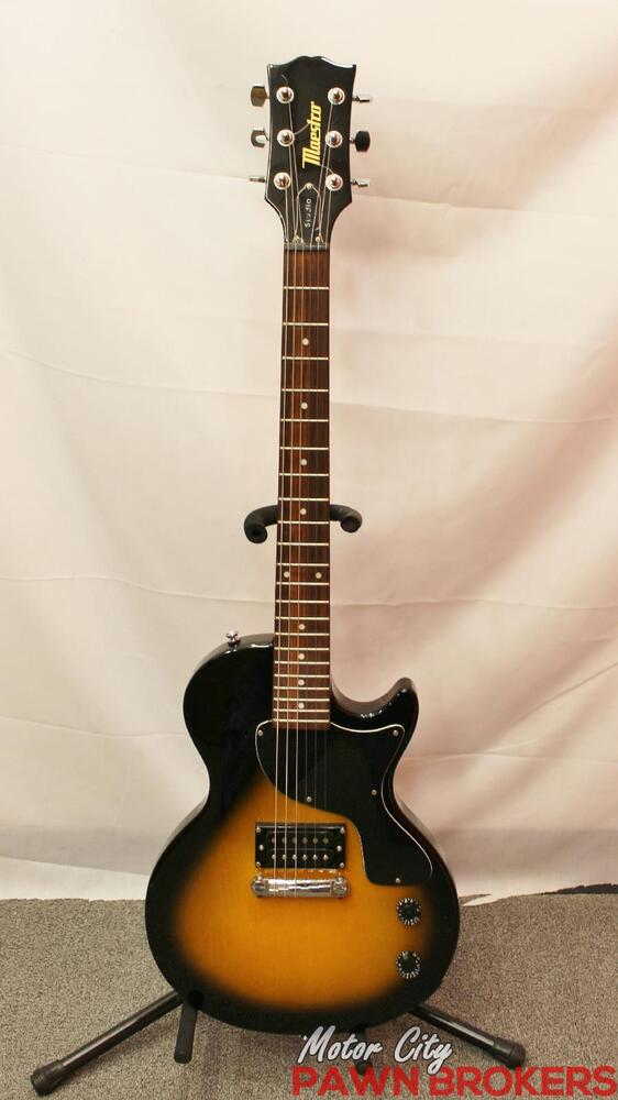 maestro by gibson studio 6 string single cutaway electric guitar ebay. Black Bedroom Furniture Sets. Home Design Ideas