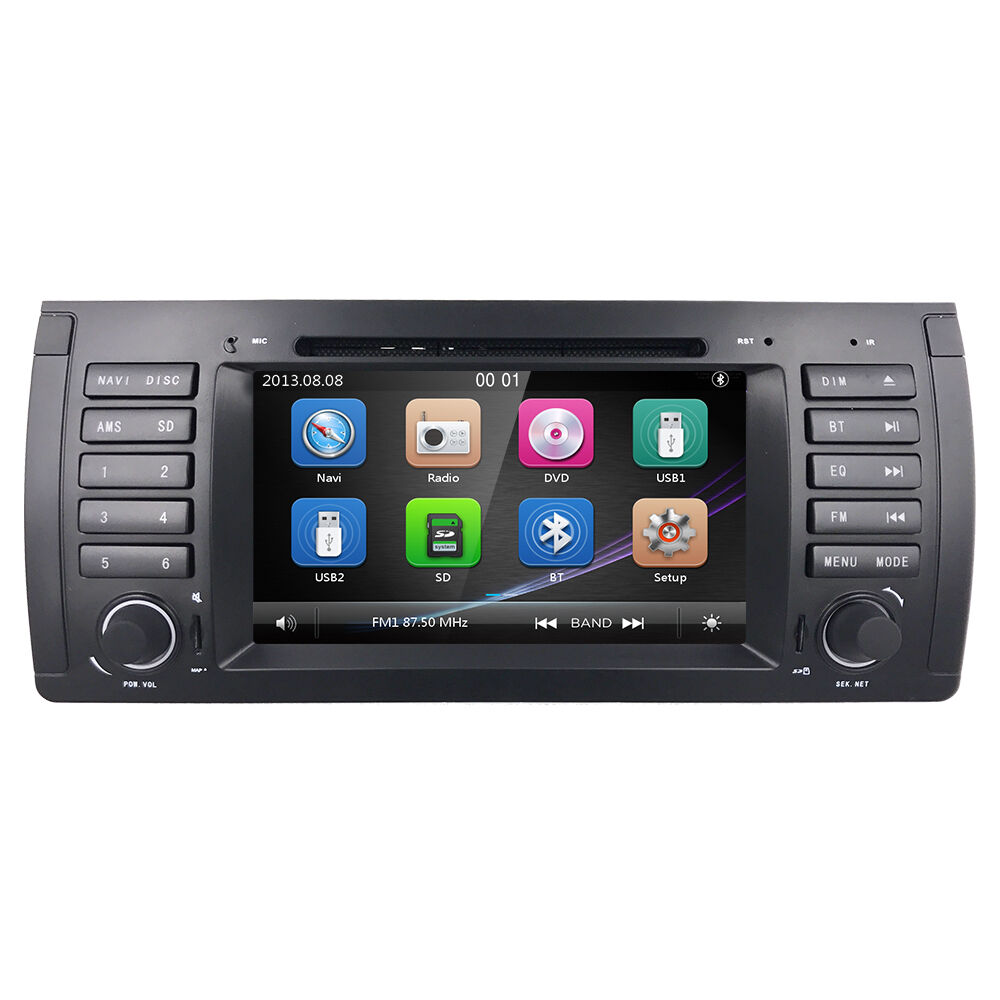 7 hd touch screen car dvd player gps navigation for bmw. Black Bedroom Furniture Sets. Home Design Ideas