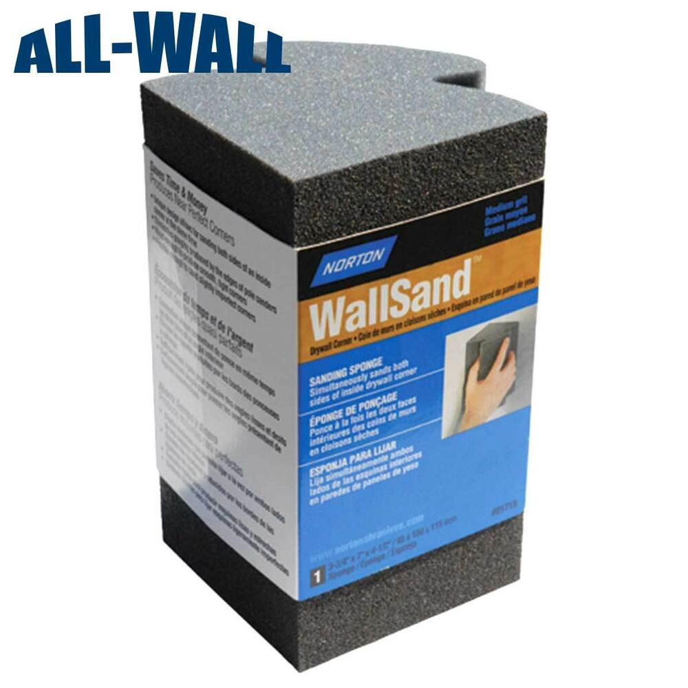 Details About Norton Corner Sanding Sponge Sand Inside Drywall Corners With Ease New