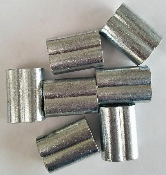Zinc Plated Copper Swage Crimp Sleeves For Wire Rope Cable