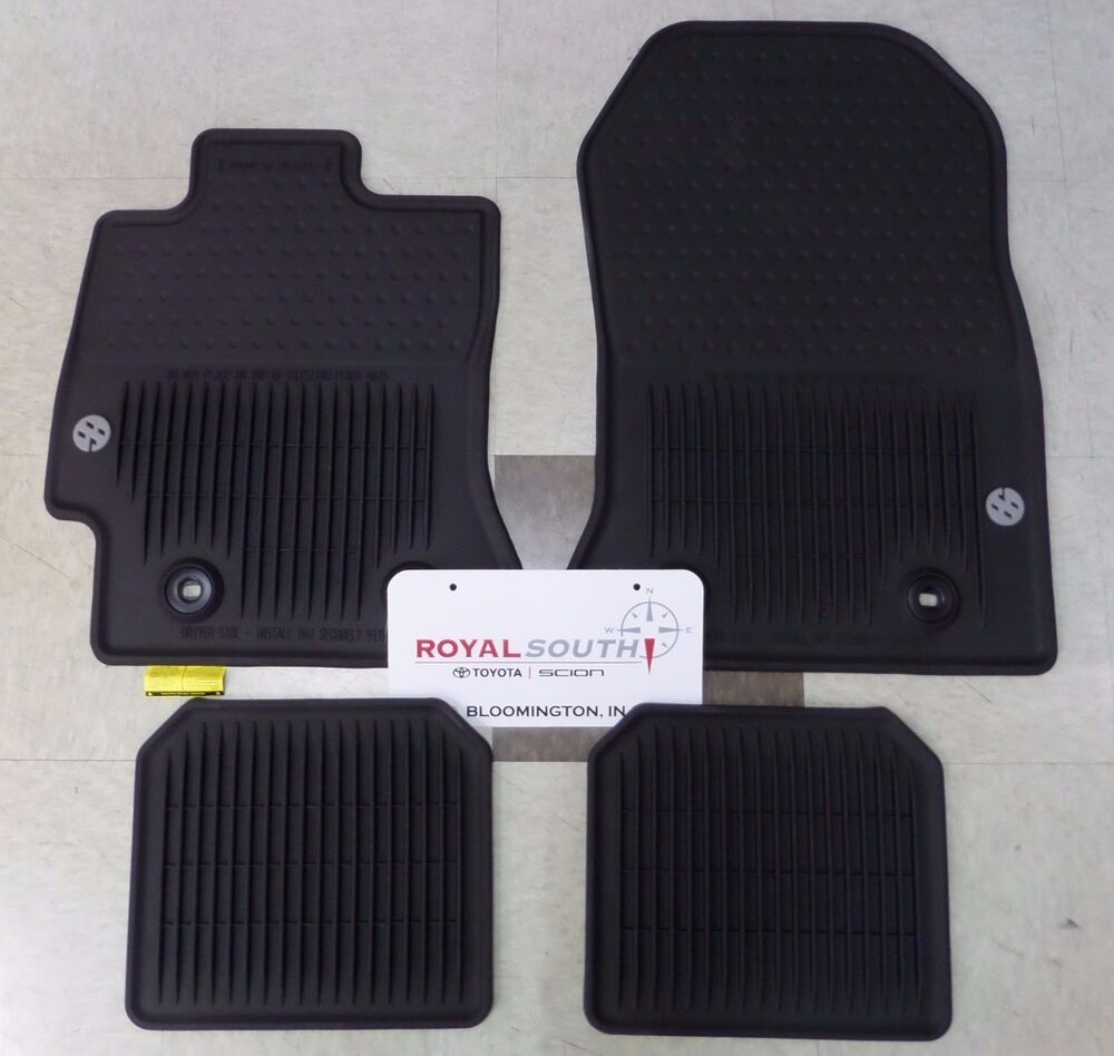 Toyota 86 factory all weather rubber floor mats genuine for Original toyota floor mats