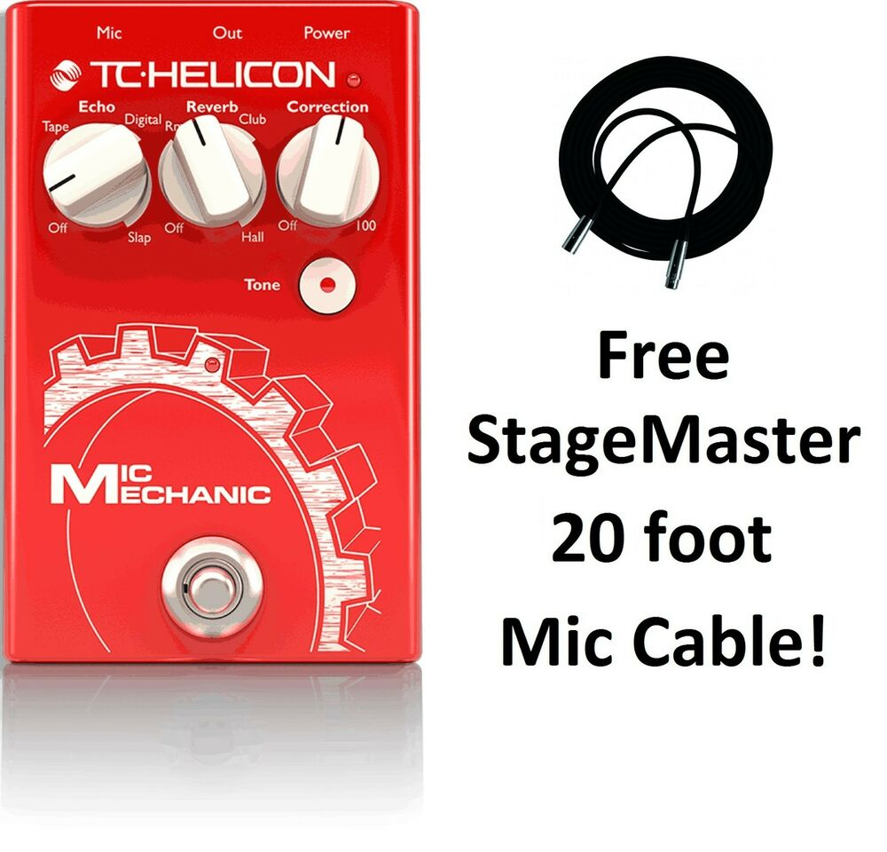 new tc helicon voicetone mic mechanic 2 vocal reverb delay pitch correction ebay. Black Bedroom Furniture Sets. Home Design Ideas