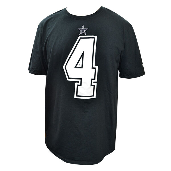 199744bc3a9 Details about Dak Prescott Dallas Cowboys Men's BLACK Nike Player Pride  Name & Number T-Shirt