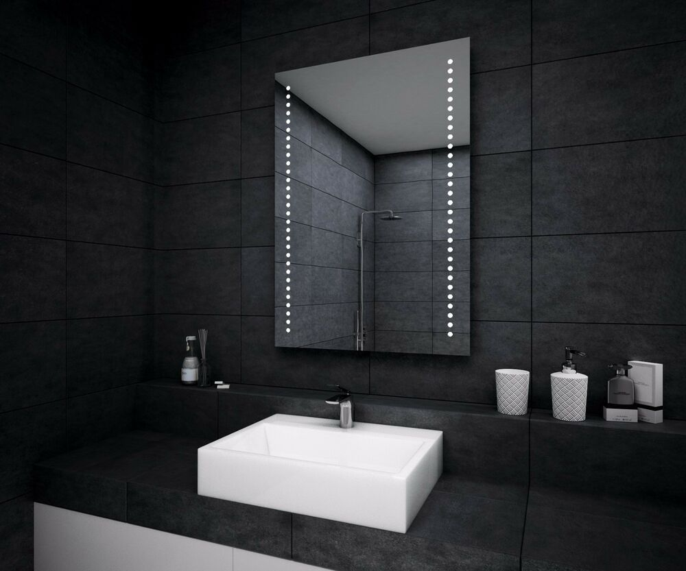 led illuminated bathroom mirror demister sensor ebay 23525