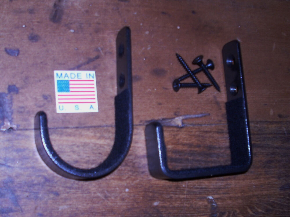 wall gun display rack felt lined double barrel shotgun hangers hooks ebay. Black Bedroom Furniture Sets. Home Design Ideas