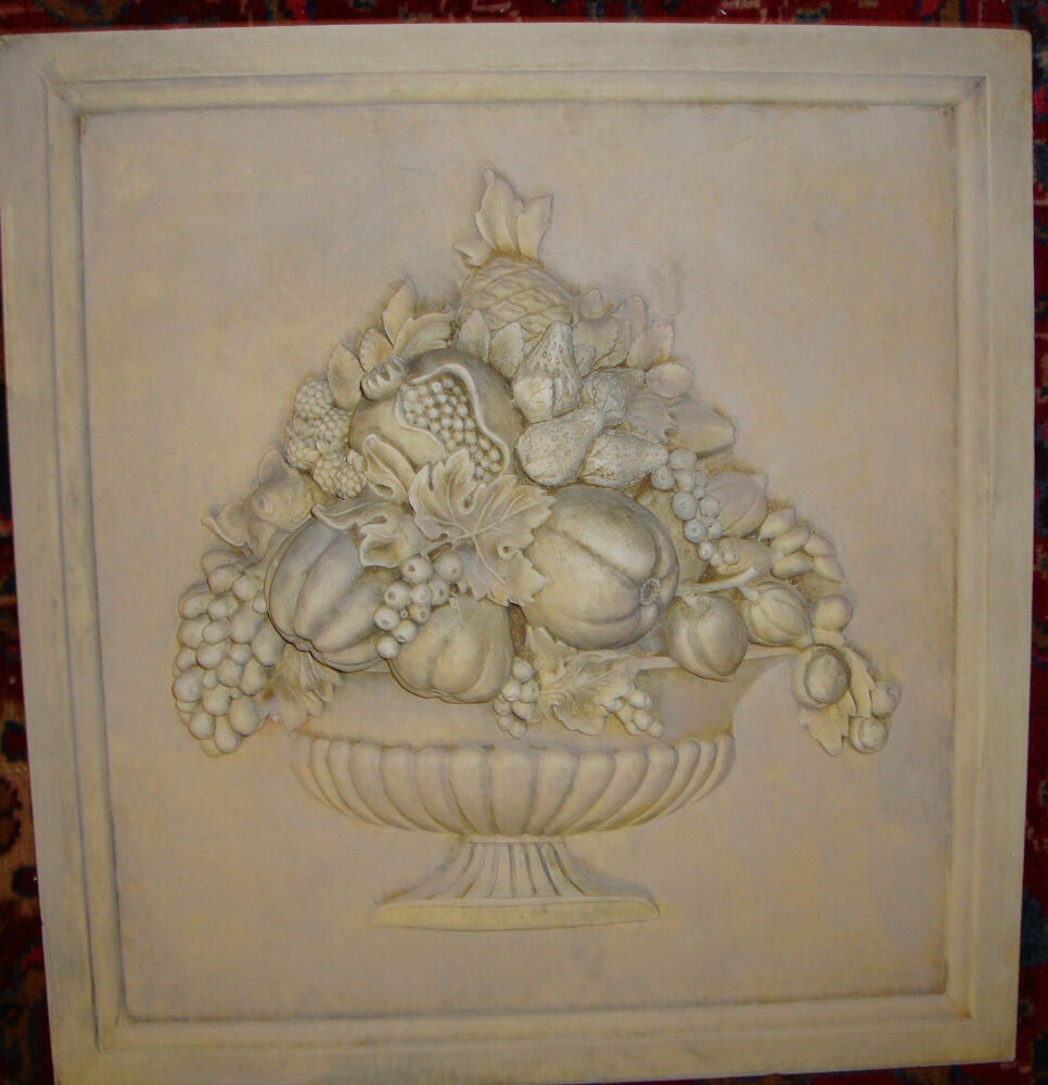 Decorative Kitchen Backsplash Cast Lime Stone Tile Art Ceramic Tiles Wall Plaque Ebay
