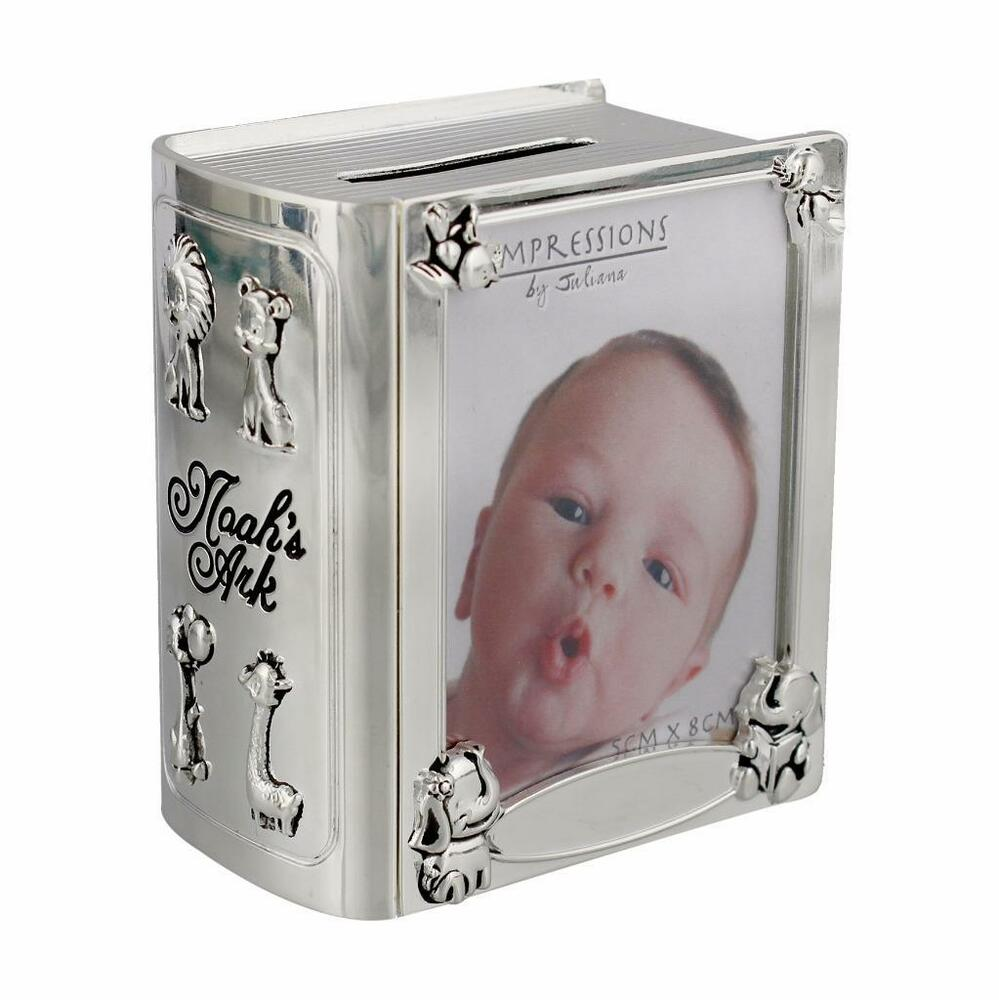 Silver Plated Baby Gifts Australia : Baby gift noah s ark silver plated book shape money box