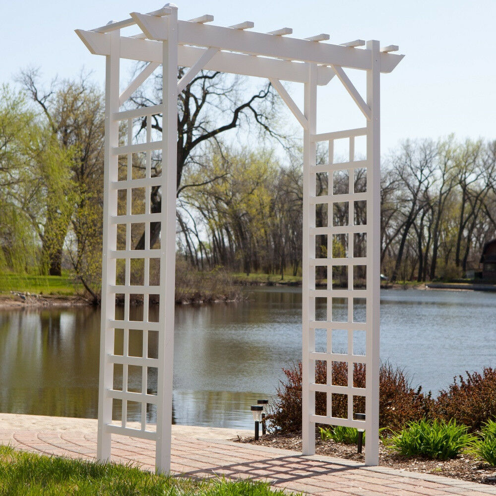 Garden arbor wedding arch trellis backyard pergola outdoor for Garden archway designs