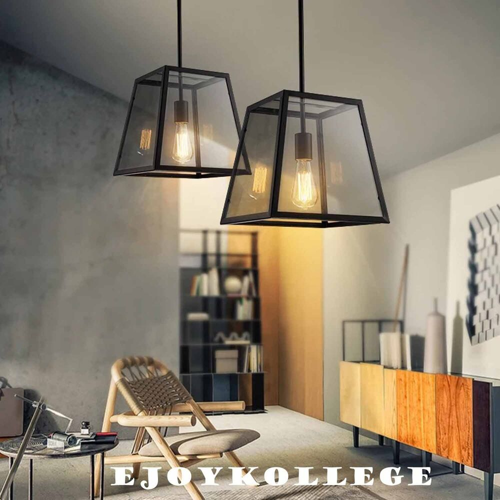 Kitchen Lighting Fixture Sets: Set Showcase Industrial Edison Ceiling Pendant Light