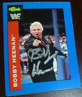 Bobby Heenan Signed 1991 Classic WWE Card #10 WWF The Brain Auto'd Autograph WCW