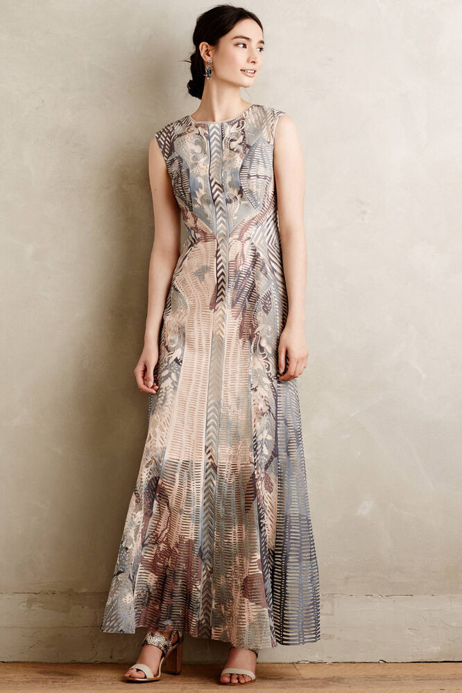 3d1f034e293e6 $998 ANTHROPOLOGIE BHLDN Isidora Maxi Dress by ... Lyst - Geisha Designs  Azores Dress