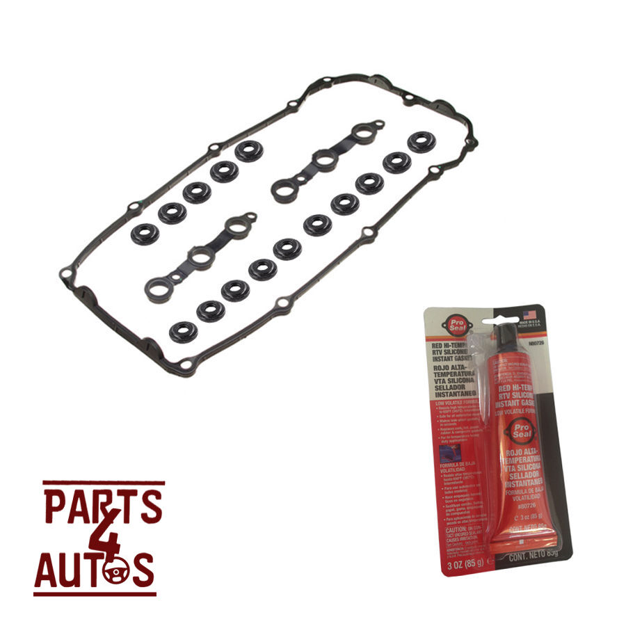 Valve Cover Gasket Set With Sealer Grommets Bolt Seals