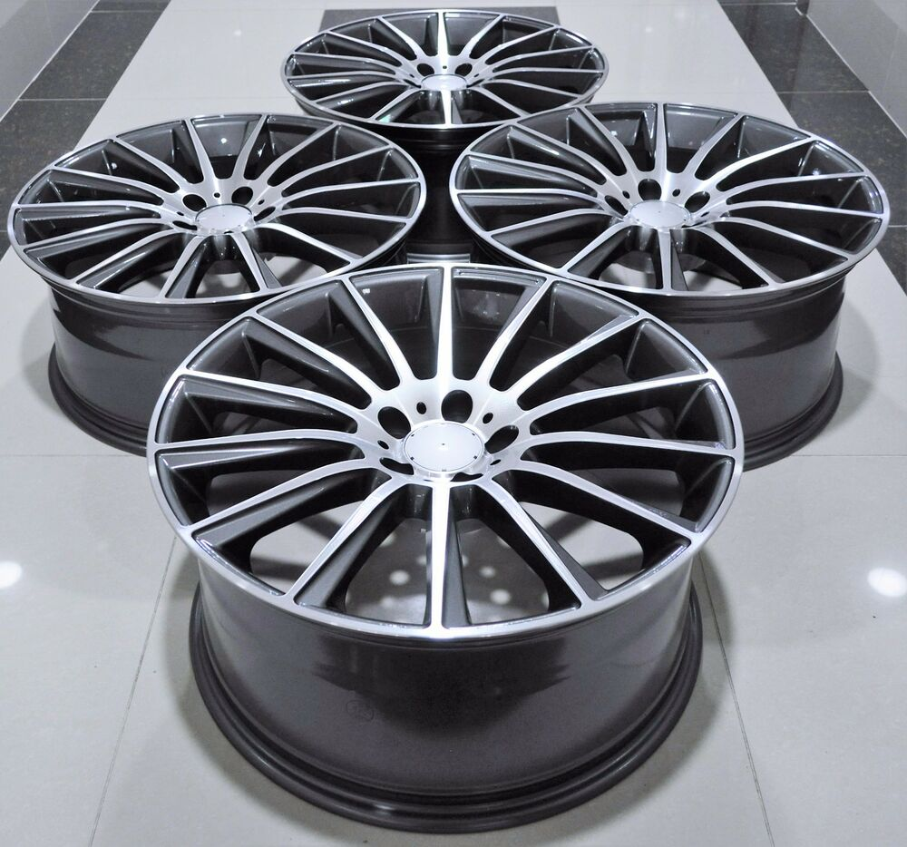 20 s63 amg style staggered wheels rims fits mercedes e s for Mercedes benz staggered wheels