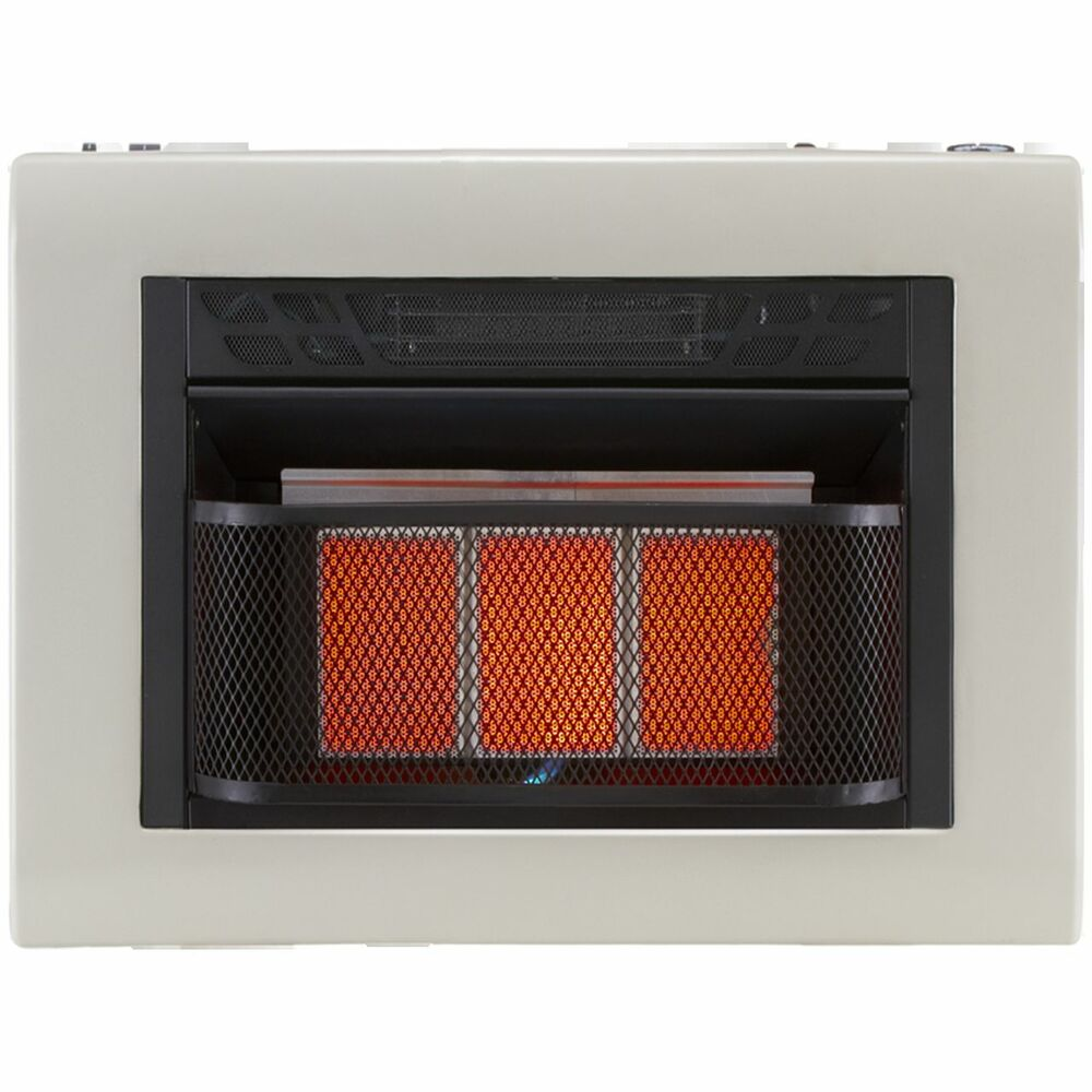 20 000 Btu Vent Free Infrared Space Heater Propane Natural Gas Thermastat Ebay