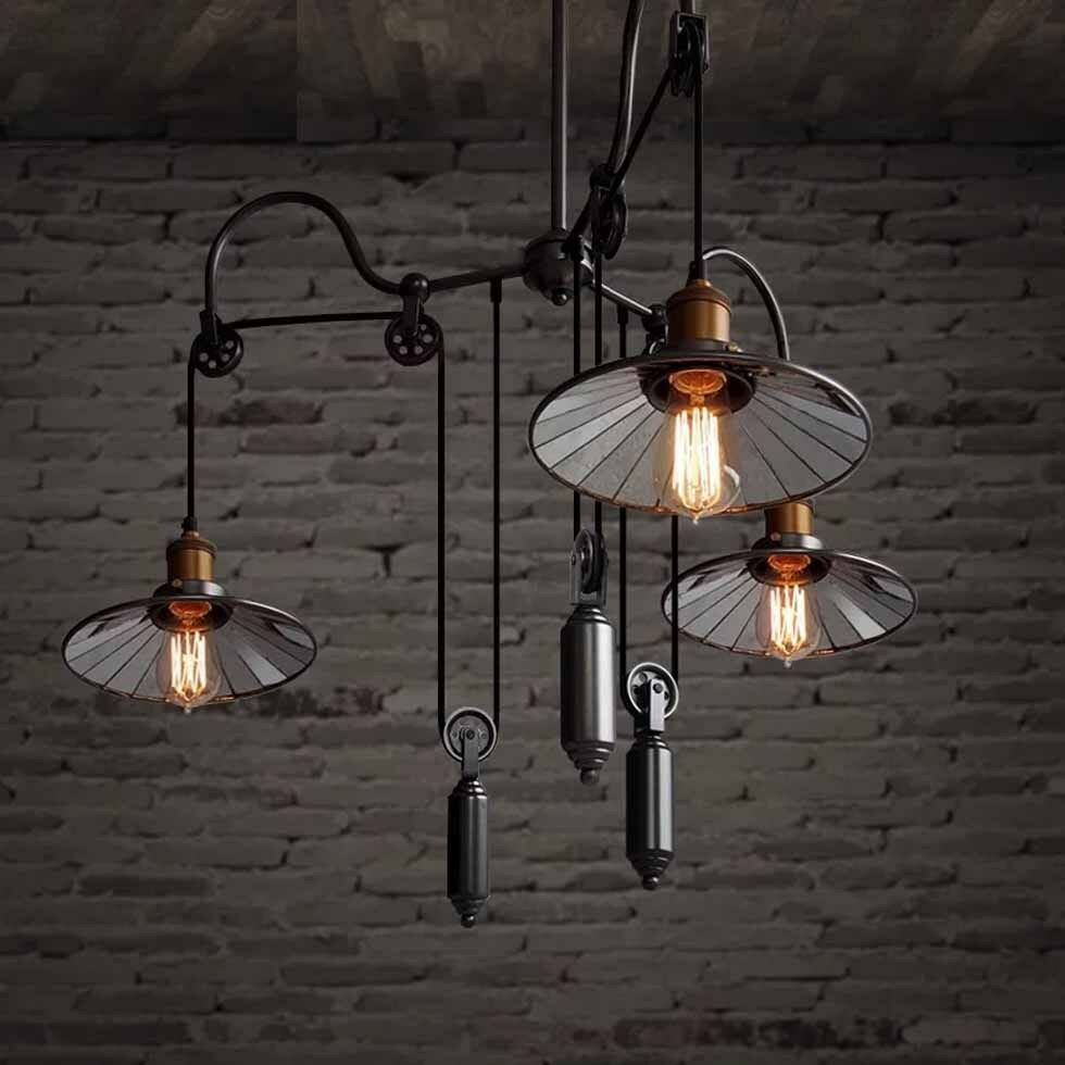 Vintage Industrial Chandelier Pendant Light UP DOWN