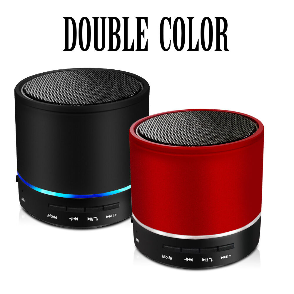 Metal Cover Rechargeable Portable Bluetooth Wireless Speaker Mini Super Bass LED   eBay
