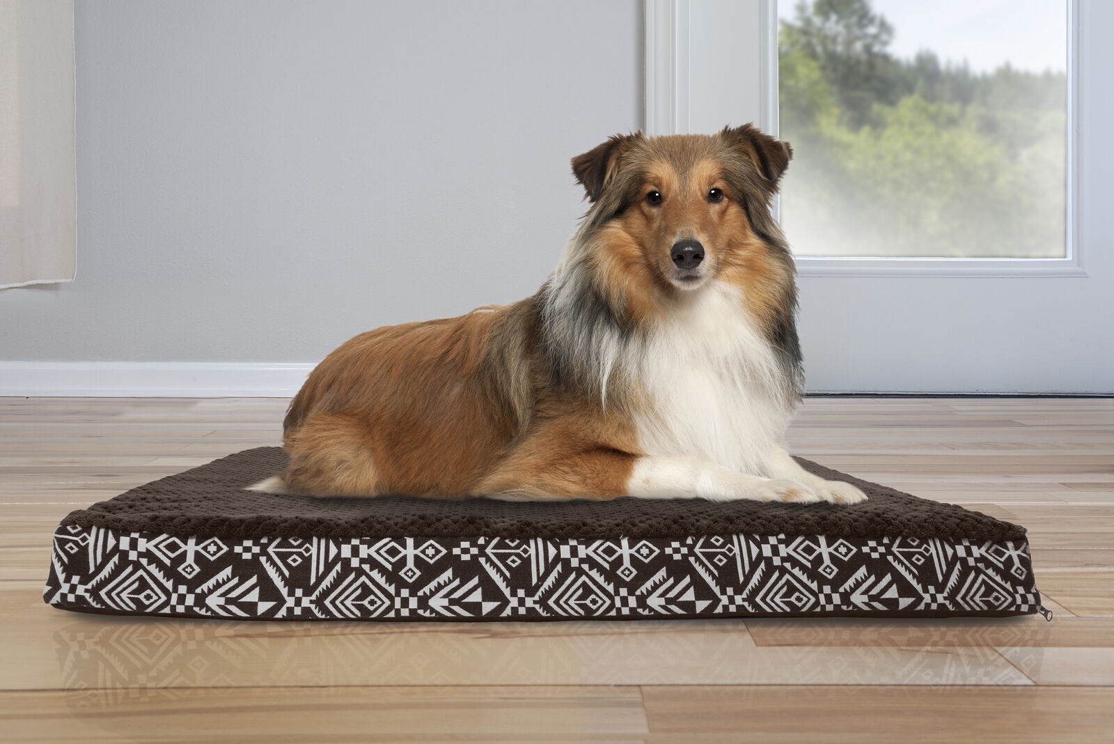 Furhaven Pet Ultra Plush Kilim Patterned Deluxe Orthopedic Dog Bed