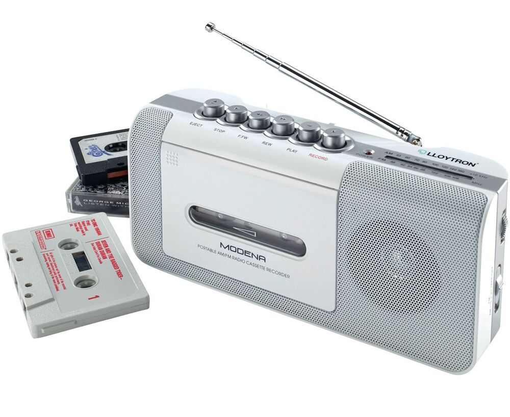 portable radio cassette tape media recorder player. Black Bedroom Furniture Sets. Home Design Ideas