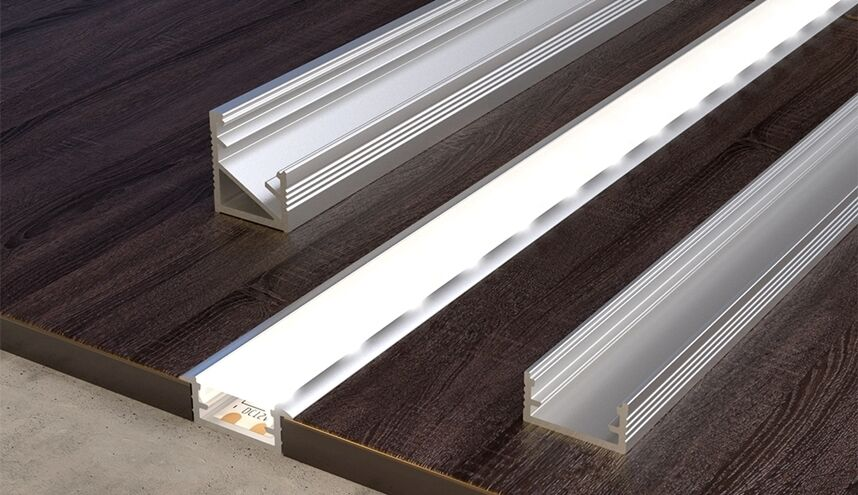 2 meters aluminium channel for led strip light with cover pvc profile ebay. Black Bedroom Furniture Sets. Home Design Ideas