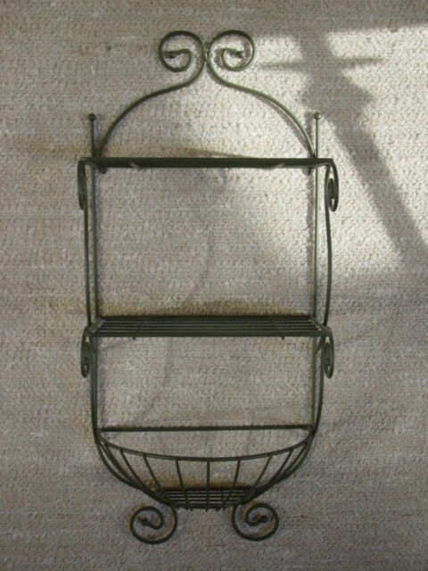 Wire Metal Planter Shelf Vintage Orginal Home